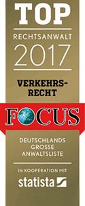 Rechtsanwälte Fincke - Focus Top Rechtsanwalt für Verkehrsrecht 2018